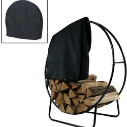 Tubular Steel Log Hoop firewood cover  ,waterproof firewood cover Firewood Cover 600D oxford dustproof with high quality