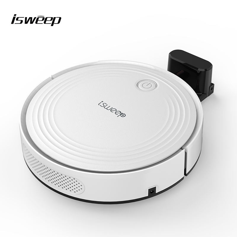China WIFI APP Voice Prompt Mop Clean Robot Vacuums White