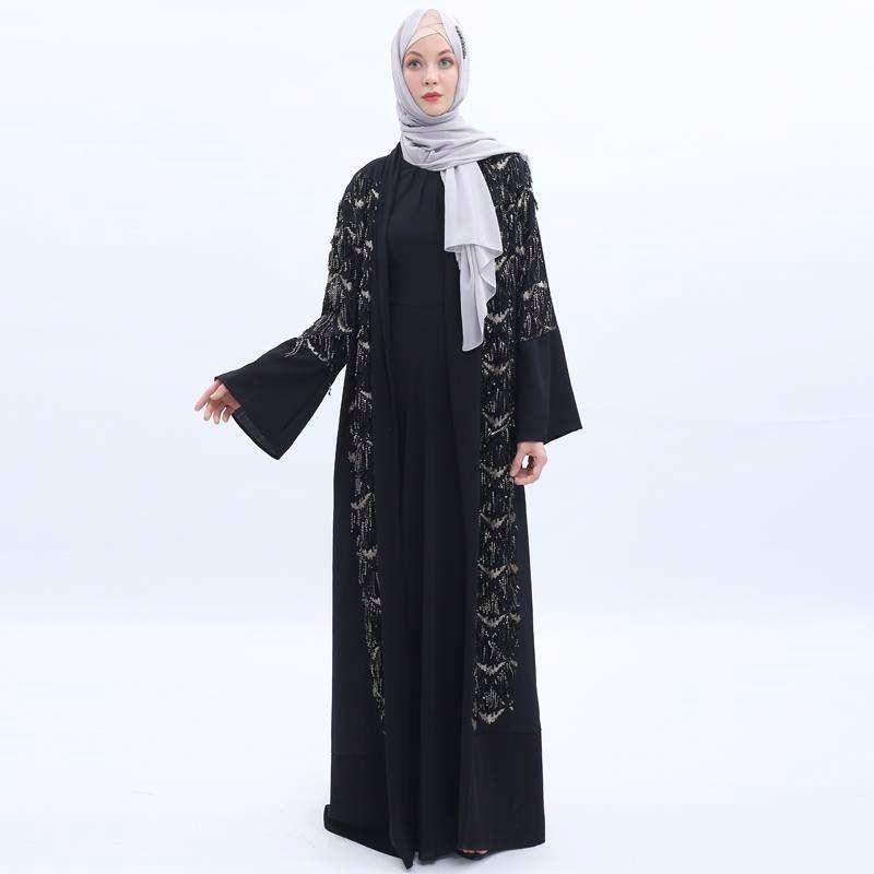 Abito musulmano <span class=keywords><strong>Abaya</strong></span> Delle Donne Robe Abito Lungo di Colore Solido Per Le Donne Chalaza <span class=keywords><strong>Abaya</strong></span> di Design