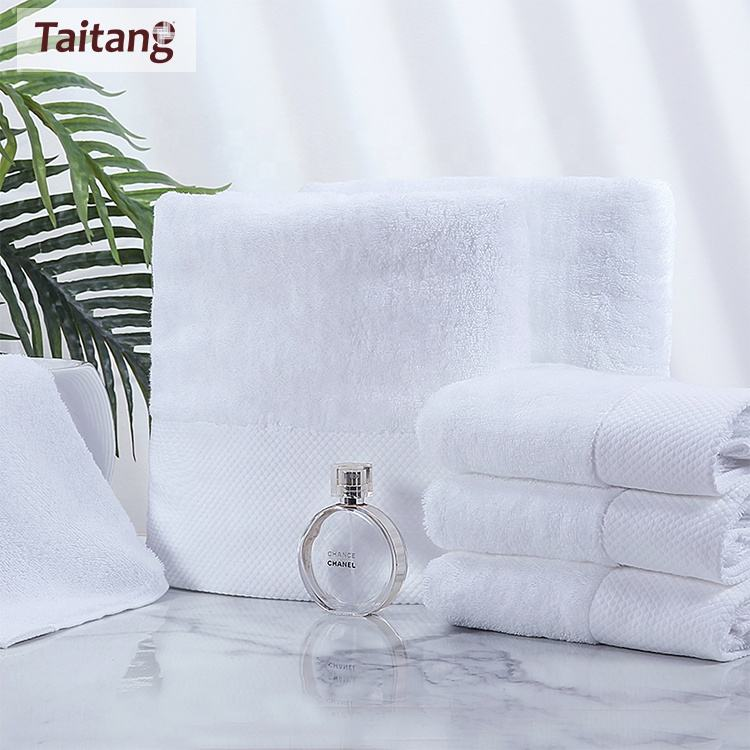 Customized Size Bath Towel Towel Set 100% Cotton White Hand Bath Face Towels,Spa Bath Sheet