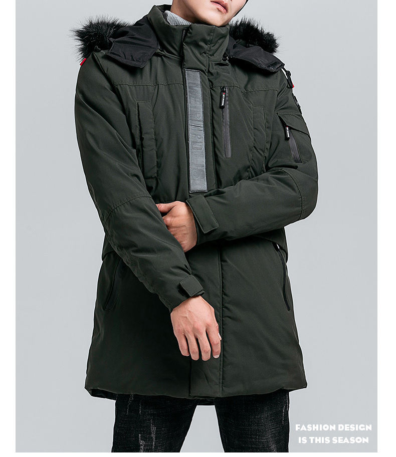 Autumn and winter men's coat thickened wind-proof cotton-padded jacket Warm cotton coat