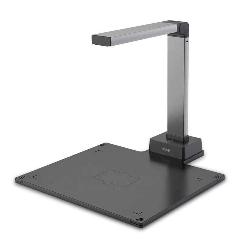 High quality A4 automatic book scanner 13MP portable standing usb document camera scanner with ocr