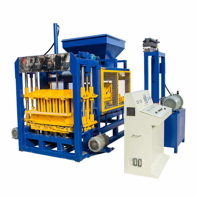 QT4-16 fully automatic cement hollow interlock paving blocks machine hydraulic concrete block making machine for sale