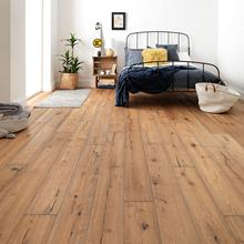 Greenland 14mm Oak Wood Slight Brushed Handscraped Smoked Antique Parquet UV Lacquered Engineered Flooring