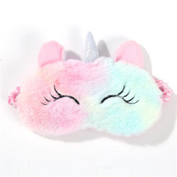 Cute 3D Sleep Mask Plush Animal Sleeping Eye Cover for Women Girls Home Sleeping Traveling