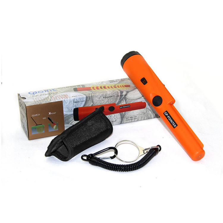 Hot Sale Gold Hand Held Security Vibration And Light Alarm Metal Scanner GP-Pointer Portable Metal Detectors