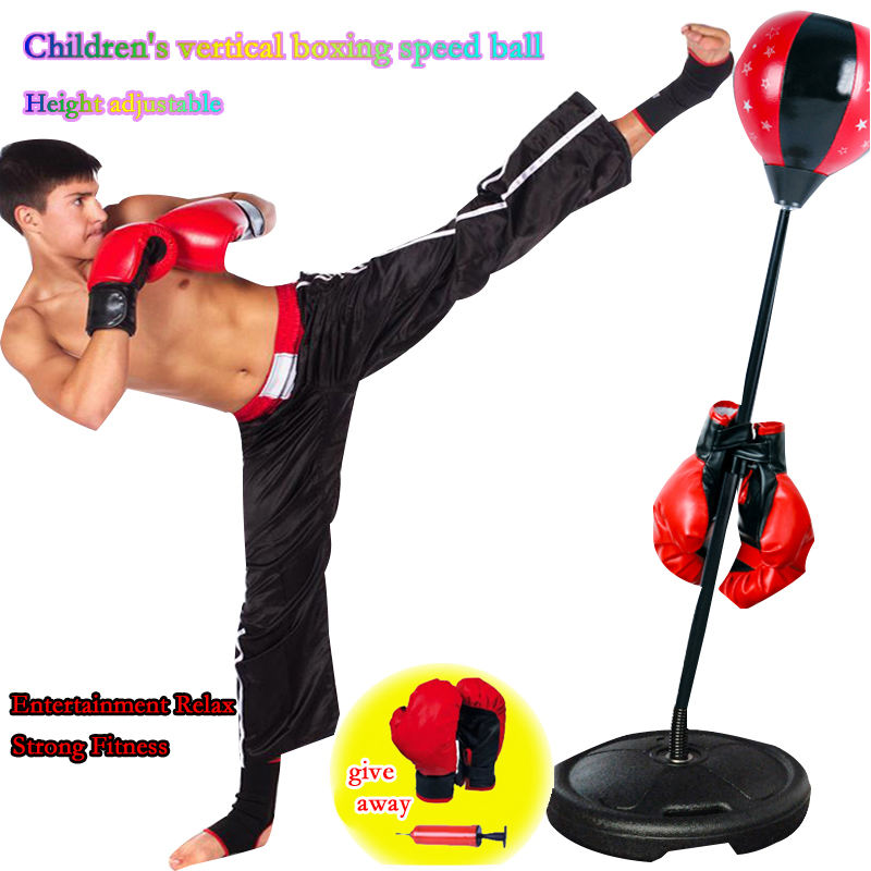 2020 hot sale adjustable children's boxing punching bag with bracket boxing toy game suit sports