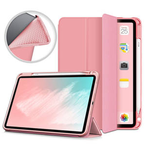 Tpu Tri-Fold Case Voor Ipad 10.9 Inch Air4 2020 Ultra Slanke Flip Lederen Tablet Cover