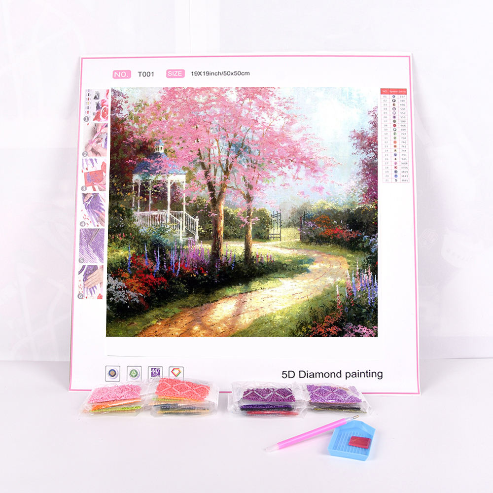 Custom Picture Photo Spring Scenery Full Drill 5D Diamond Painting for Adults