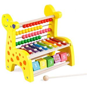 rainbow colorful montessory abacus rack math game tool Educational preschool baby kids children toys