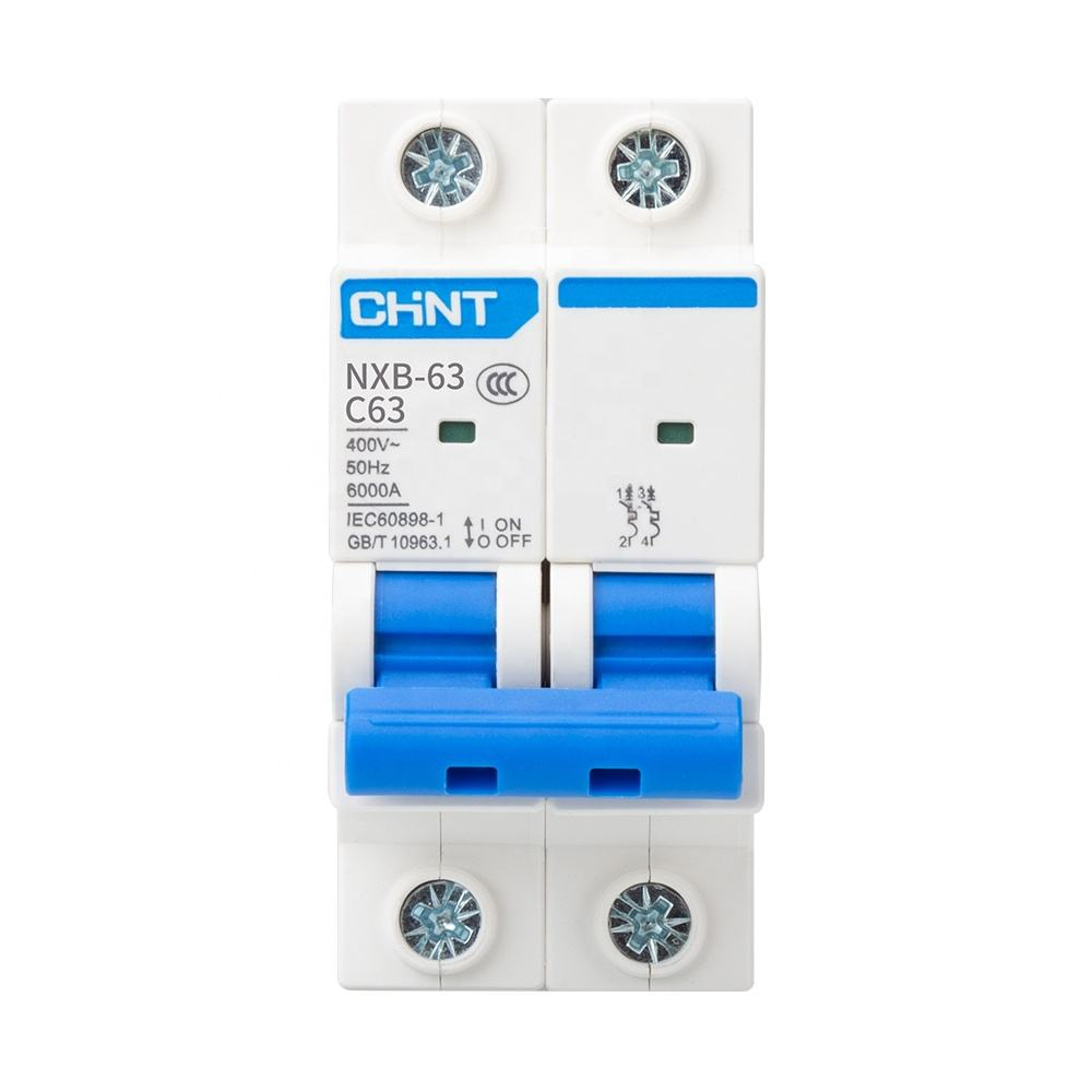 CHNT Small Air Switch NXB-63-2P Rated current 63A Miniature Circuit Breaker