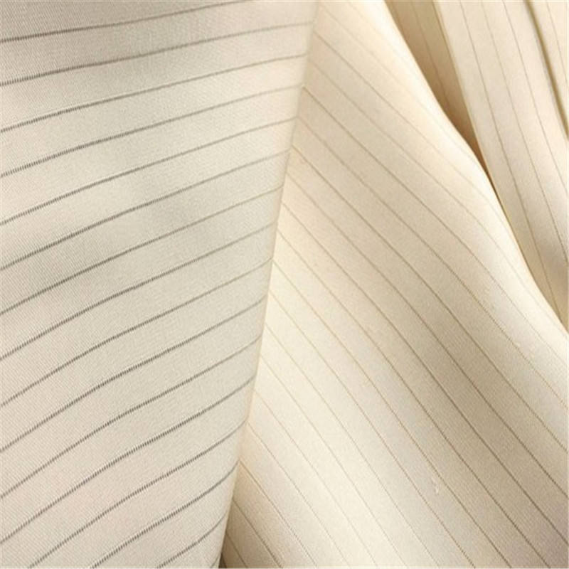 Brocade Manufacture Silk Jacquard Fabric in Plain Dyed Color with Stripe Pattern for Tie