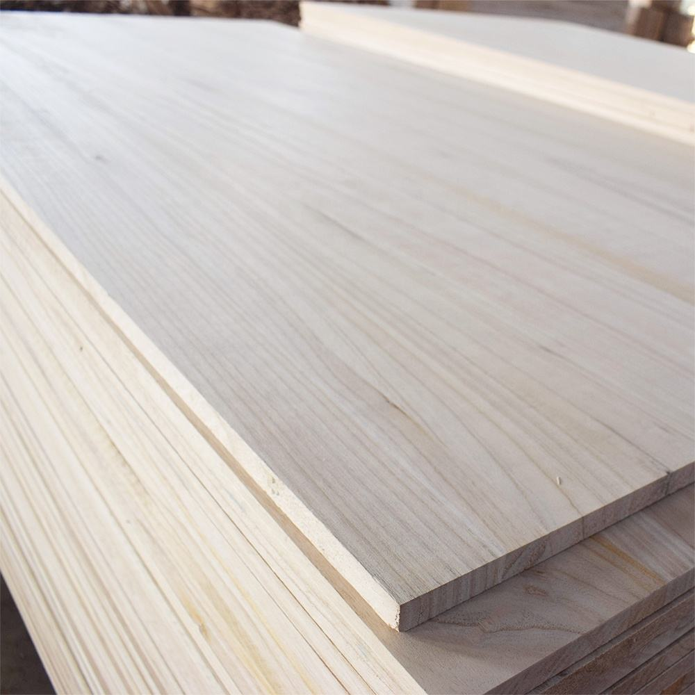 Tablero con borde pegado de madera paulowniapine timber