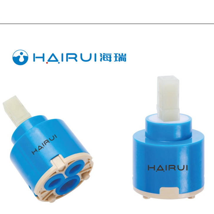 40mm solar energy plastic Japanese PC material ceramic disc faucet single lever HAIRUI ceramic cartridge HR40D-S01