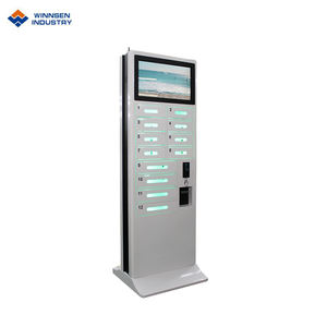 Self-service commercial control system coin operated cellphone charging locker APC-12D