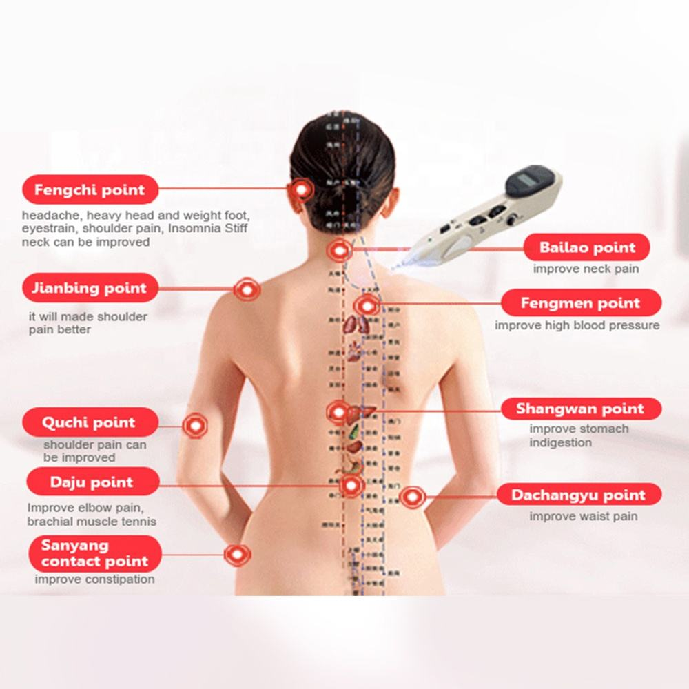 Acupuncture needle stimulator handheld therapy massage device