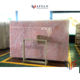 Polished natural light pink onyx rose marble stone slab