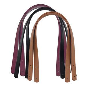 Wholesale bag strap 60cm PU strap women's coloured cotton bag handles leather shoulder bag straps