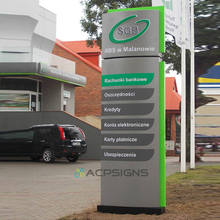 Outdoor Large Totem Sign For Building Company Hotel Address Wayfinding Pylon Signage