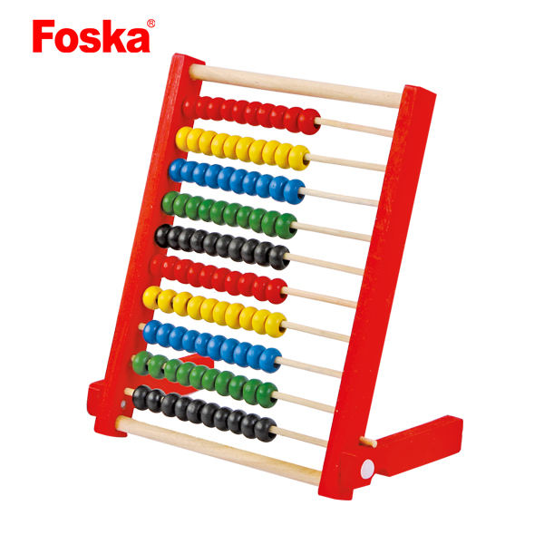 Foska Colorful Kids Calculation Wooden Educational Toy Counting Frame Abacus