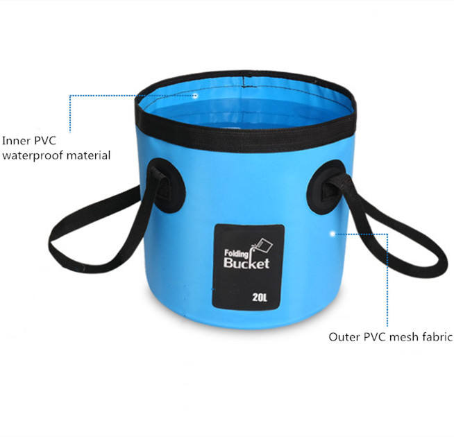 New Style Portable Waterproof Travel Outdoor Folding Bucket With Strong Handle Suitable For Hiking Fishing Camping