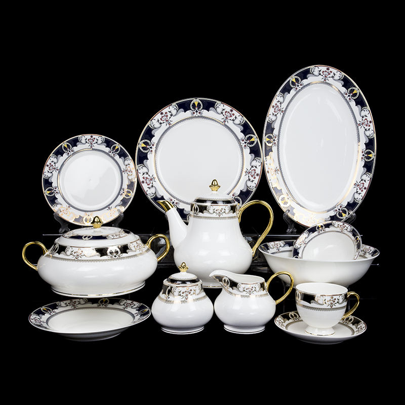 Wholesale custom ceramic dinner set Tableware New Design Bone China Porcelain Dinner Sets