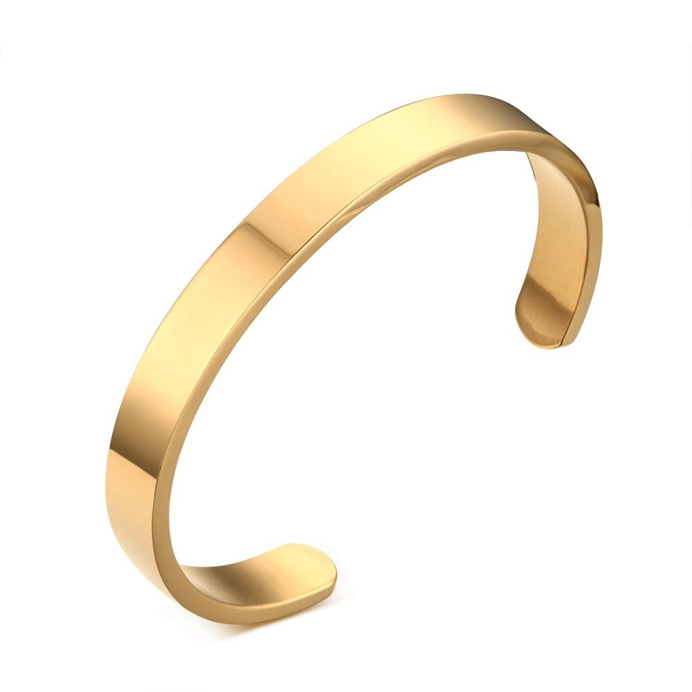 RINNTIN OTB301 jewelry wholesale china Stainless Steel Metal Gold Jewelry Men Bracelet Blank