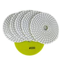 "DIATOOL 5"" white bond polishing pads #200 Diamond sanding disc for marble & granite"