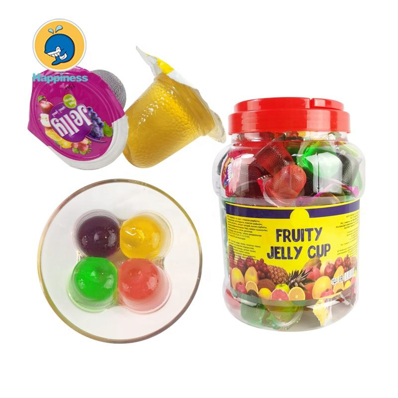 round jar packing mini assorted fruit flavor jelly cup
