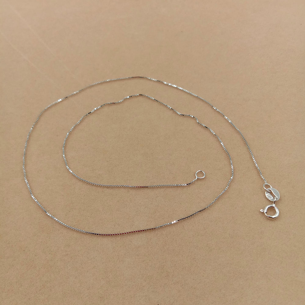 WHOLESALE BULK PRICE 18 inch S925 Sterling Silver box chain chocker necklace,plating gold and white gold DIY Accessories