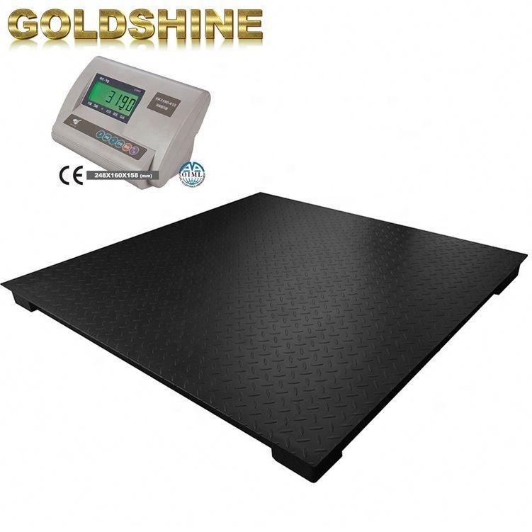 Digital weight 3 ton electric warehouse A12E platform scales heavy duty weighing scales weight floor scale industrial