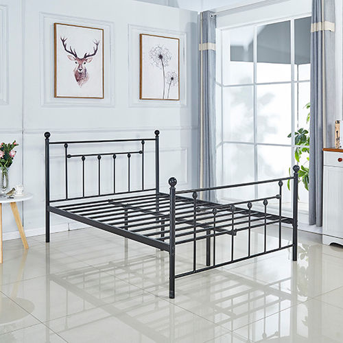 Cheap modern hot sale wrought iron 4ft6 bed bedroom furniture