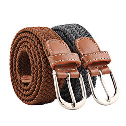New Mens Casual Stretch Woven Belt Womens Child Elastic Belt