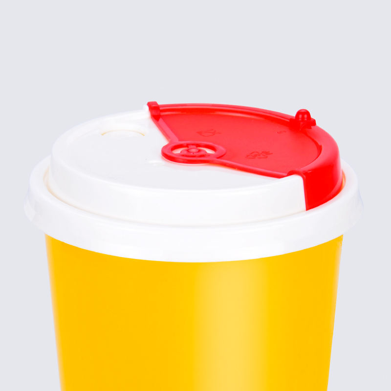 90 caliber rotary cover ex-factory price milk tea water leak proof cup lids for hot cold drink