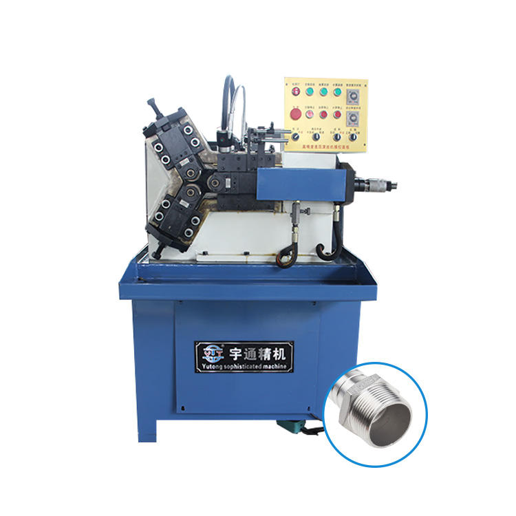 Fully automatic small hydraulic rolling machine three-axis thread rolling machine knurling machine
