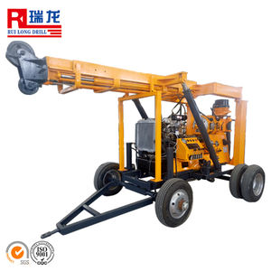 Easy and simple to handle 600m trailer-mounted water well drill rig for water well drilling/wireline drilling