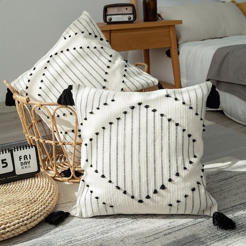 2021 custom colors indoor outdoor farmhouse pillow covers throw cushion cover pillow for decorative