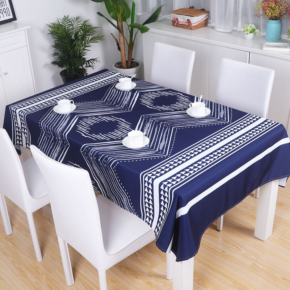 Hot sale OEM colorful stripe waterproof tablecloth custom size table protective cover