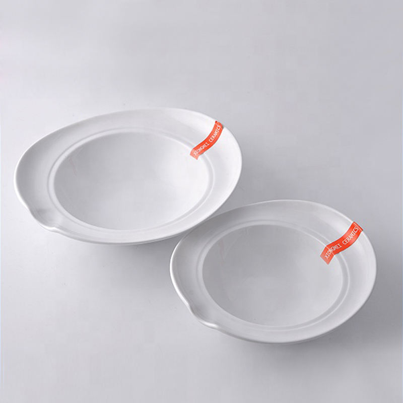 High quality round deep serving ceramic fashion dinner plates for restaurant