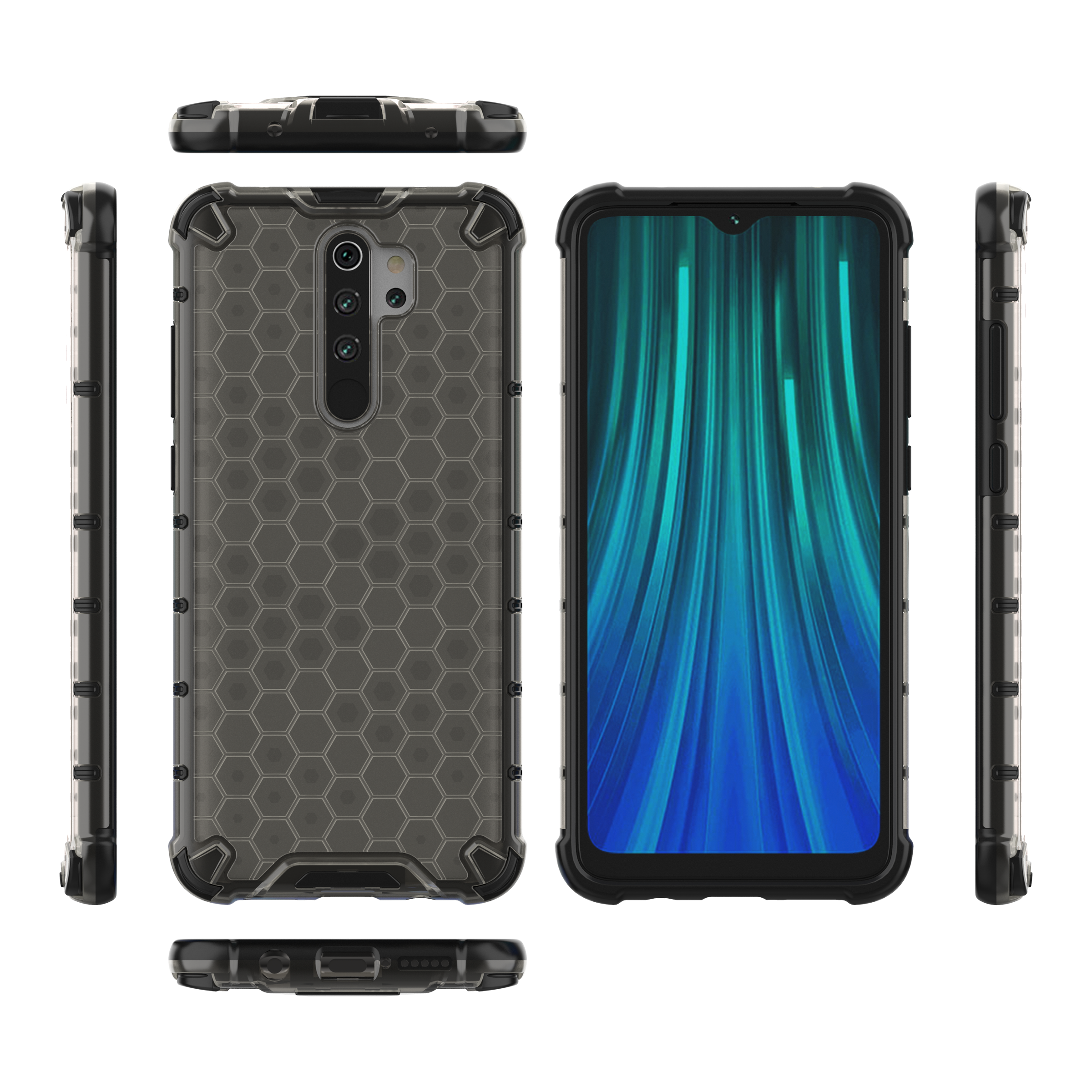 Honingraat Transparante shockproof case voor <span class=keywords><strong>Redmi</strong></span> <span class=keywords><strong>note</strong></span> <span class=keywords><strong>8</strong></span>, anti shock case voor <span class=keywords><strong>Redmi</strong></span> <span class=keywords><strong>note</strong></span> <span class=keywords><strong>8</strong></span>