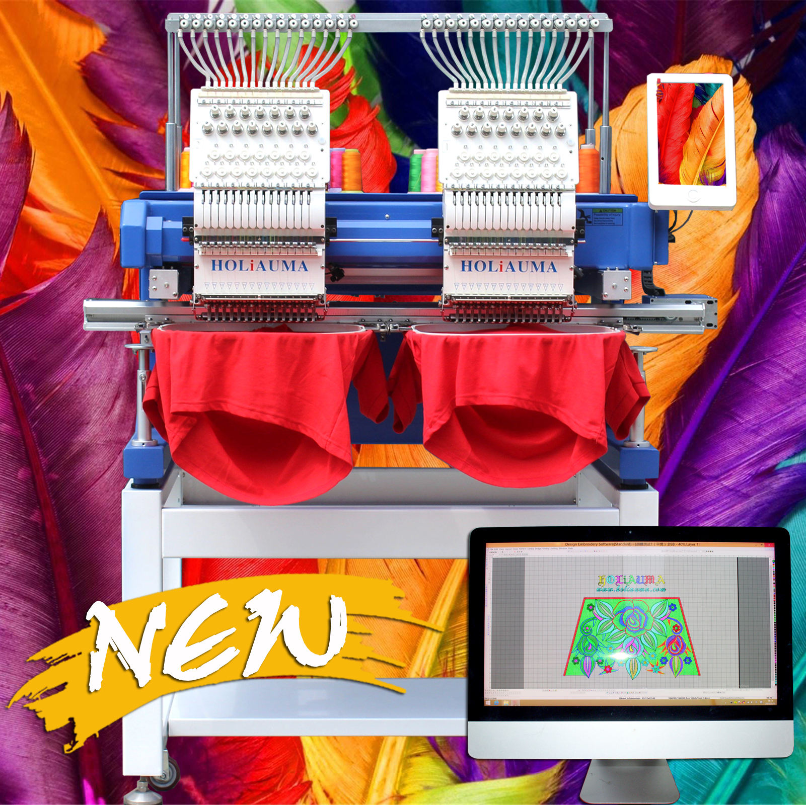 10 years service !!!HOLiAUMA Newest embroidery machines computerized for sale cheaper tajima swf embroidery machine price