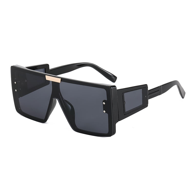 Superhot Eyewear 49000 UV400 Big Frame Flat Top Square Oversized Shades Sunglasses