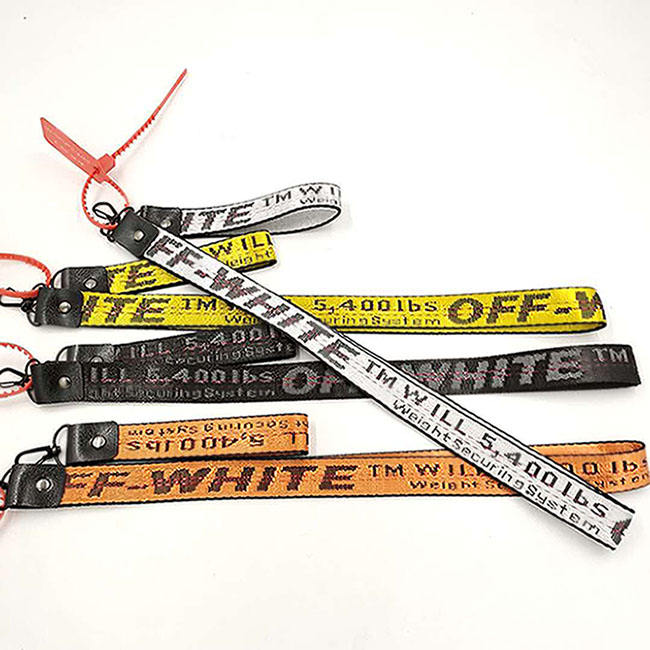 20% Off Hot Selling Black White Rubber Break Away Lanyard Factory In China