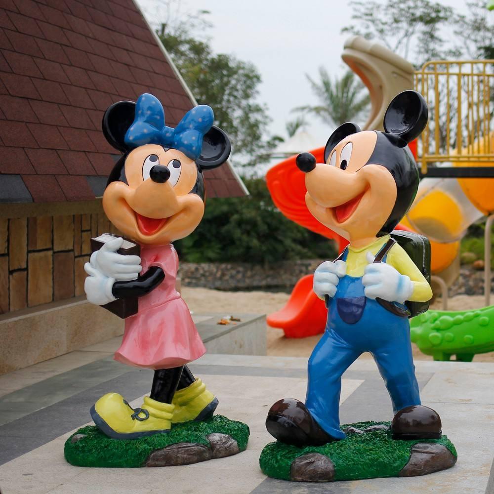 <span class=keywords><strong>Fonte</strong></span> da fábrica de fibra de vidro colorido mickey mouse escultura para a decoração