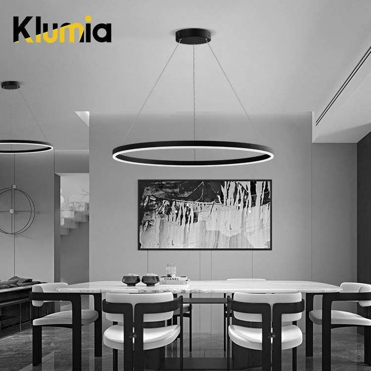 Metal Pendant Light KLUMIA New Arrival Aluminum Metal Acrylic Indoor Bedroom 30 W 39 W Hanging Modern LED Pendant Light