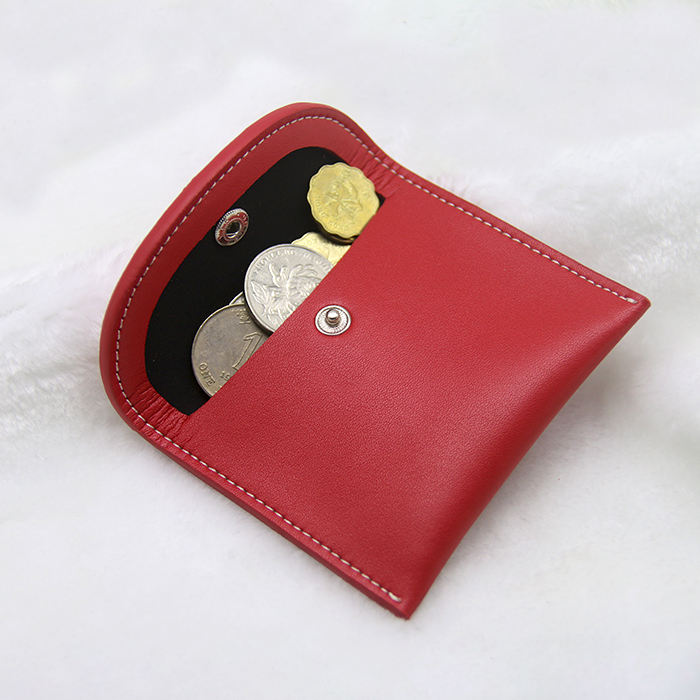 Small classic leather coin holder/case/purse