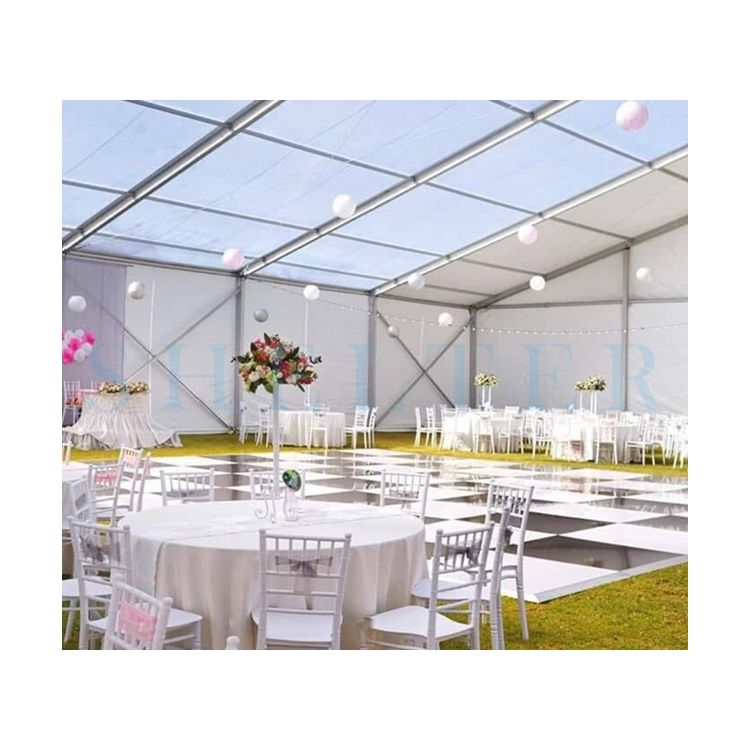 Aluminum Frame Outdoor Wedding Party Event Glass Wall Marquee Tent Suppliers