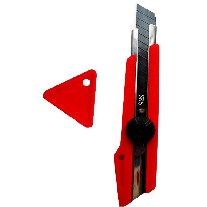 RTS Wholesale OEM logo heavy utility knife 18mm with triangle blade snapper