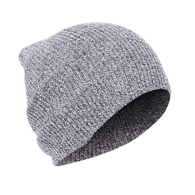 High Quality Winter Beanies Hats Custom Knitting Slouch Beanie Hat