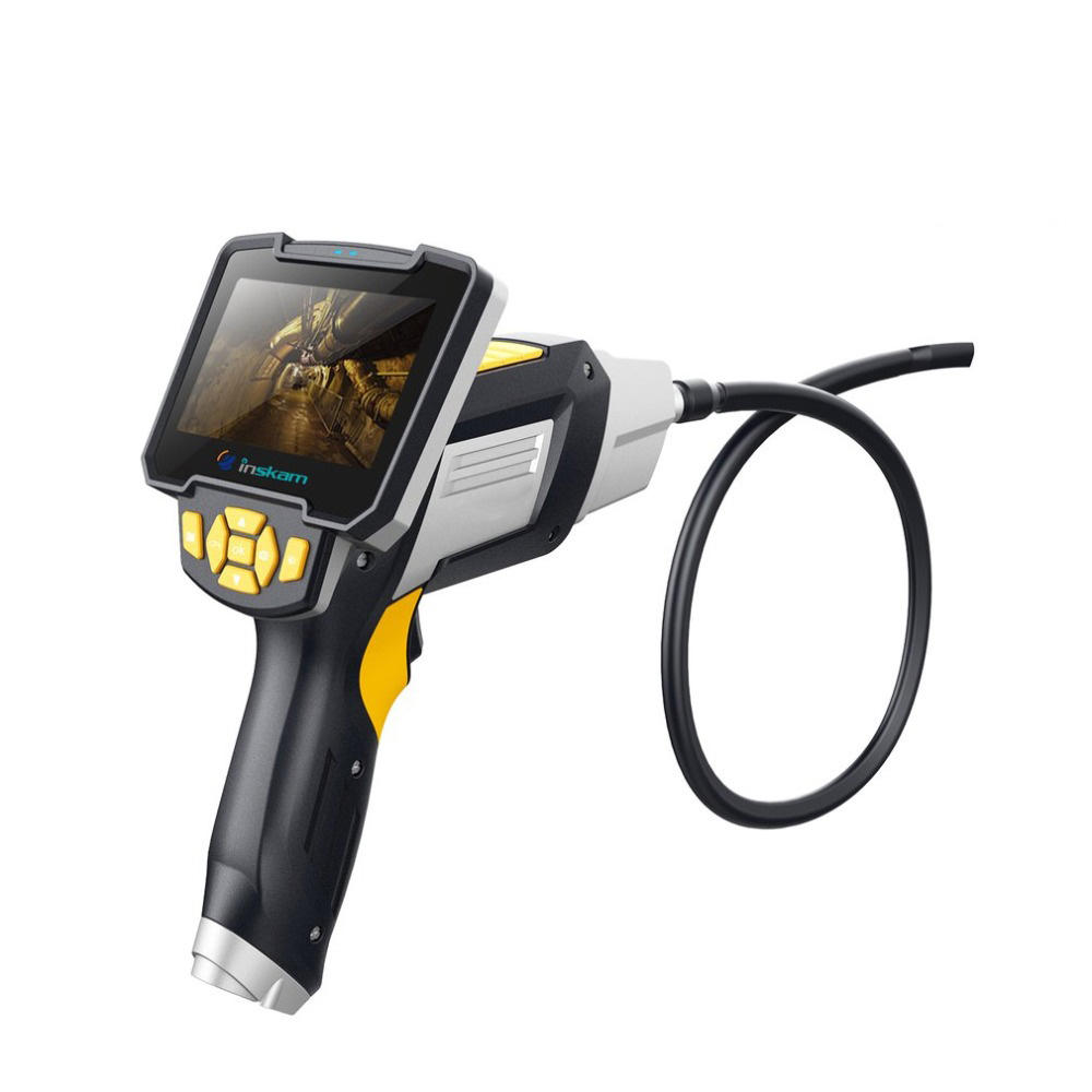HM112 Digital 1080P LCD 8mm Snake Scope Endoscope Waterproof Probe Inspection 3m Flex Cable HD Camera Handheld Borescope